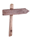 Wooden direction sign stock images