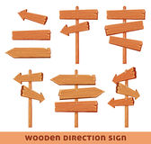 Wooden direction sing Stock Photos