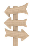 Wooden directional marker Royalty Free Stock Photo