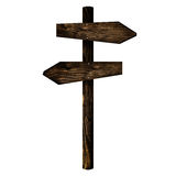 Wooden directional signpost Royalty Free Stock Images