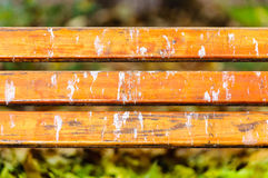 Wooden dirty bench texture detail Royalty Free Stock Images