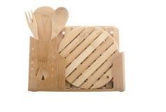 Wooden dishware Royalty Free Stock Photo
