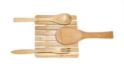 Wooden dishware Stock Photo