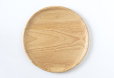 Wooden disk top view Royalty Free Stock Photography