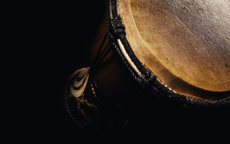 Wooden Djembe Closeup Royalty Free Stock Photography