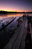 Wooden dock royalty free stock photo
