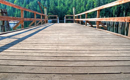 A wooden dock Stock Photo