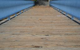 Wooden Dock. A wooden dock and railing Royalty Free Stock Image