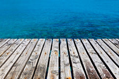 Wooden Dock Besides the Sea Stock Image
