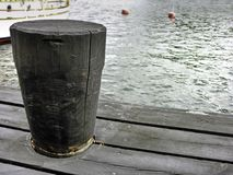 Wooden dock harbor Stock Photo