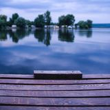 Wooden dock on the lake Stock Photos