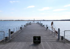 Dock on Lake Ontario Stock Image