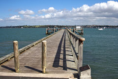 Wooden Dock,New Zealand Stock Photos