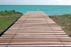 Wooden Dock on the Ocean Royalty Free Stock Photos
