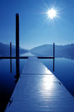 Wooden Dock and Reflection Stock Photography