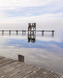 Wooden Dock View from Pier Royalty Free Stock Photo