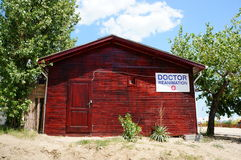 Wooden doctor hut Royalty Free Stock Photography