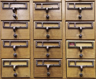 Wooden Document Locker Stock Image