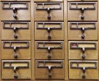 Wooden Document Locker Stock Image