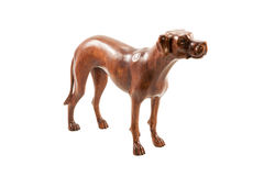 Wooden dog figurine Royalty Free Stock Image