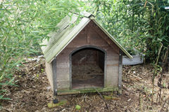 Wooden dog house Stock Photo