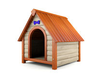 Wooden dog house Royalty Free Stock Images