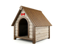 Wooden dog house Royalty Free Stock Photo