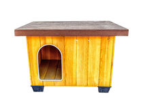 Wooden dog's house Stock Photography