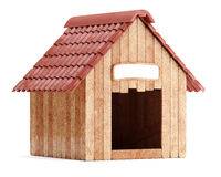 Wooden doghouse isolated on white background Royalty Free Stock Images