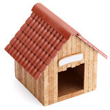 Wooden doghouse isolated on white background Royalty Free Stock Image