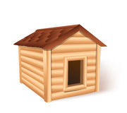 Wooden doghouse. On white background vector illustration