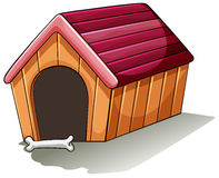 A wooden doghouse Royalty Free Stock Photography
