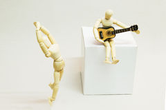 Wooden Doll in Action Stock Photos