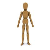 The wooden doll stands Royalty Free Stock Image