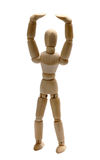 Wooden doll stretching Royalty Free Stock Photo