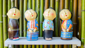 The wooden doll of thailand Royalty Free Stock Image