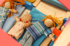 Wooden doll toys Stock Image