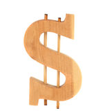 Wooden dollar sign Stock Image