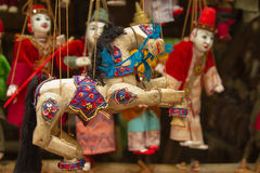 Wooden Dolls Royalty Free Stock Images