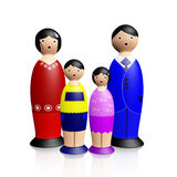 Wooden Dolls Family Stock Photo