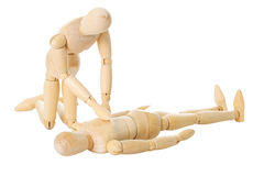 Wooden dolls reanimation Stock Photo