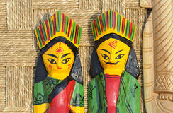 Wooden Dolls. Royalty Free Stock Photo