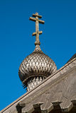 Wooden dome and cross Stock Image