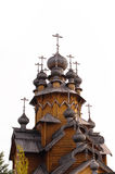 Wooden dome of the old church on a white background Royalty Free Stock Photography