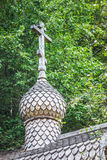 Wooden dome of Orthodox church Royalty Free Stock Photos