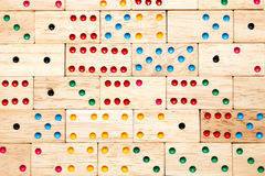 Wooden domino background Royalty Free Stock Photography