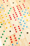 Wooden domino background Stock Photography