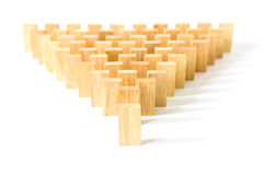 Wooden Domino in row Stock Photography