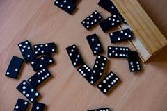 Wooden domino tiles stock image