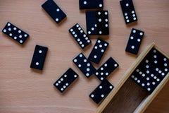 Wooden domino tiles royalty free stock photos